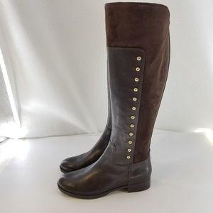 MARC FISHER Damiya Brown Studded Boots Sz 6